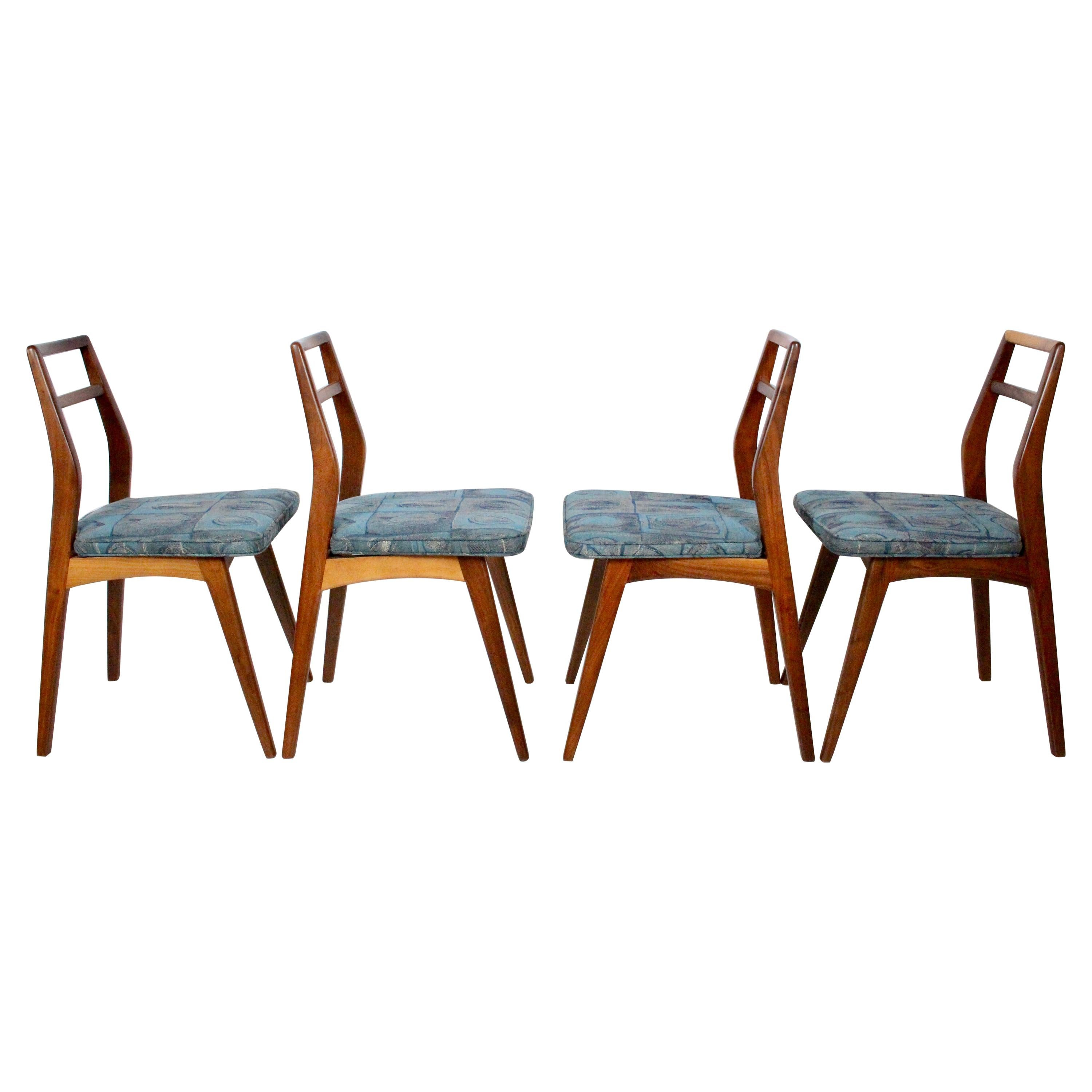 Set of Four Paul McCobb for O'Hearn Furniture Black Walnut Dining Side Chairs