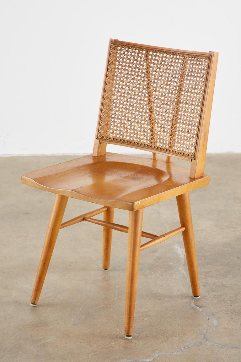 Set of Four Paul McCobb Maple Dining Chairs 3