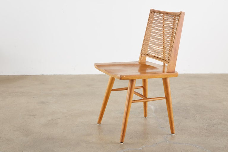 Set of Four Paul McCobb Maple Dining Chairs 4