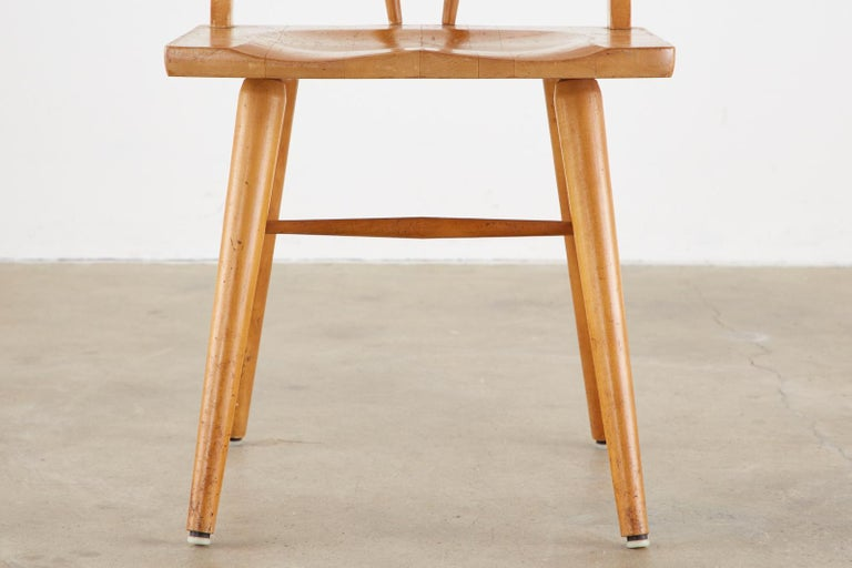 Set of Four Paul McCobb Maple Dining Chairs 6