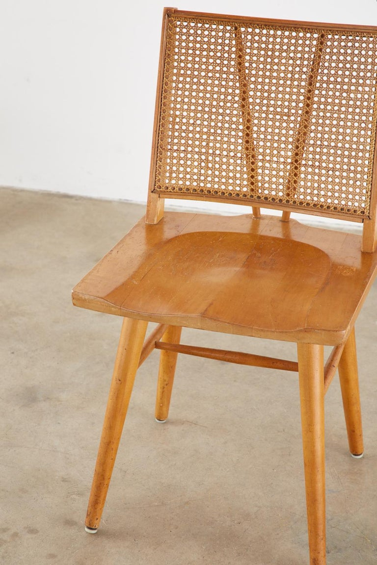 Set of Four Paul McCobb Maple Dining Chairs 7