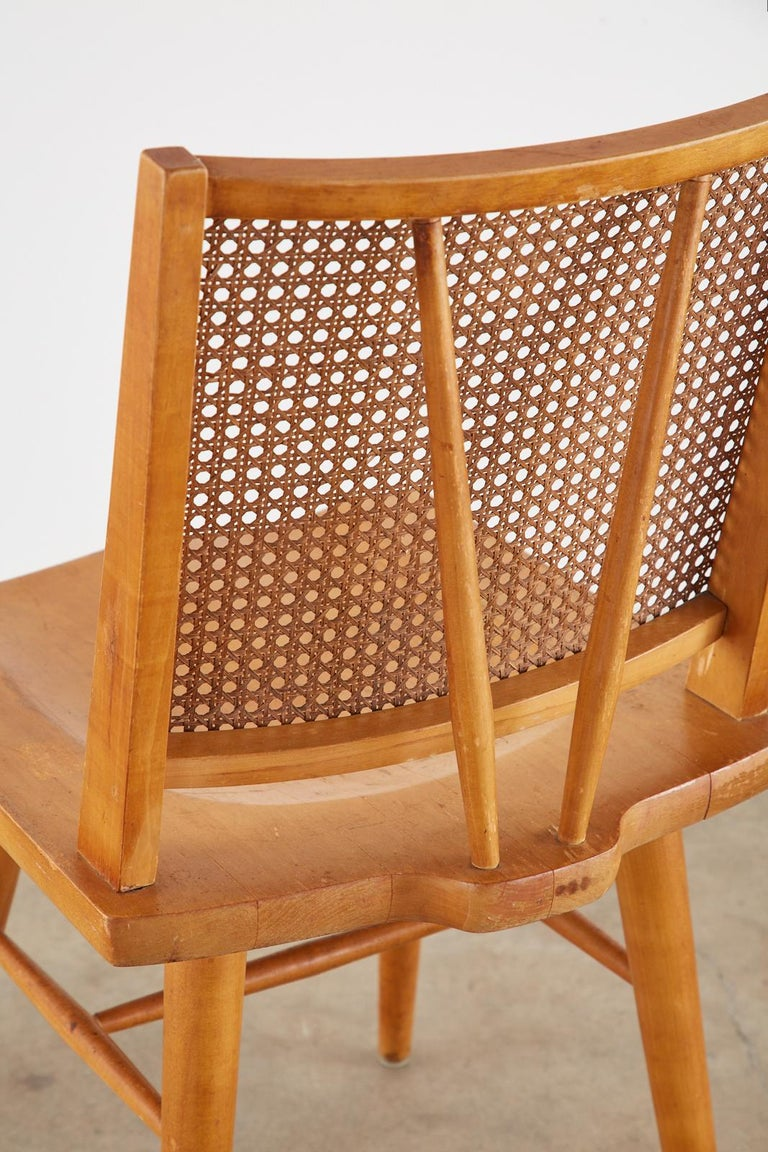 Set of Four Paul McCobb Maple Dining Chairs 9