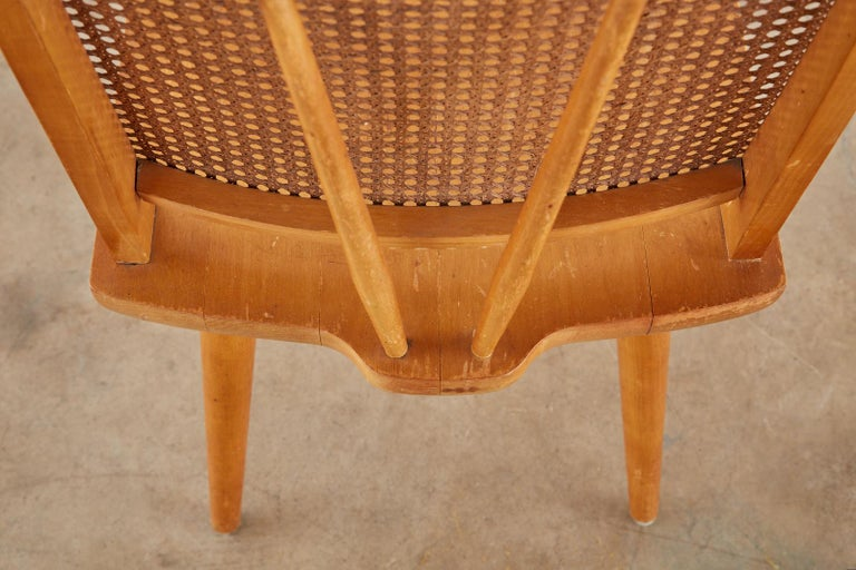Set of Four Paul McCobb Maple Dining Chairs 11