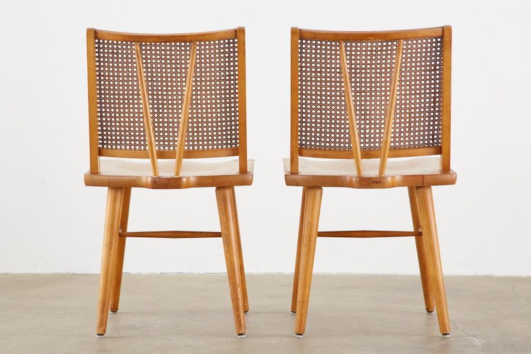 Set of Four Paul McCobb Maple Dining Chairs 12
