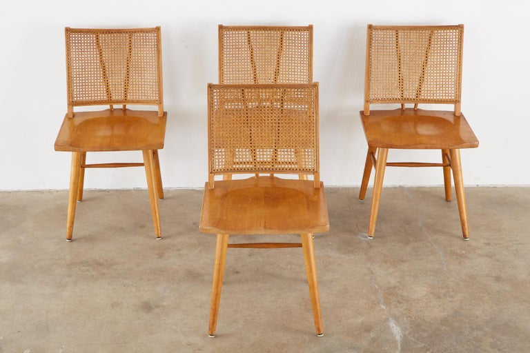 Mid-Century Modern Set of Four Paul McCobb Maple Dining Chairs