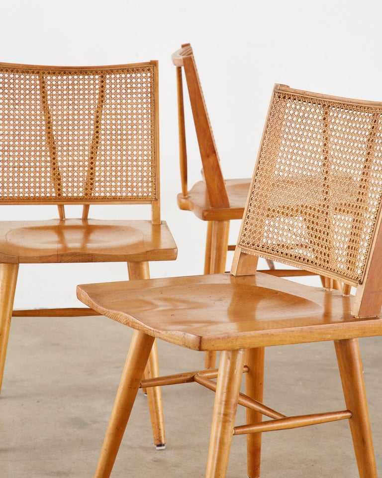 American Set of Four Paul McCobb Maple Dining Chairs