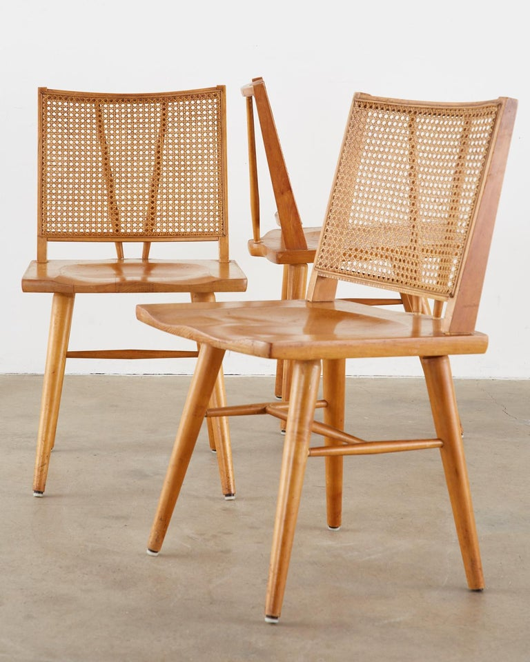 Hand-Crafted Set of Four Paul McCobb Maple Dining Chairs