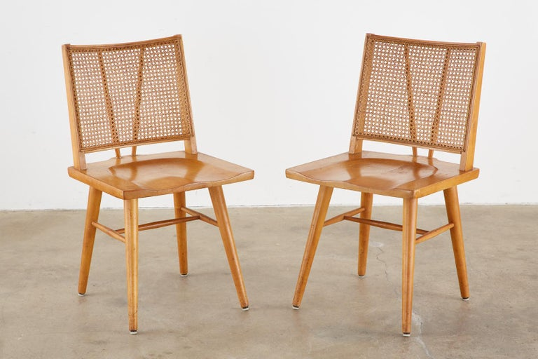 Set of Four Paul McCobb Maple Dining Chairs In Fair Condition In Oakland, CA