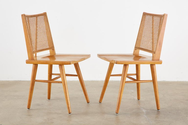 20th Century Set of Four Paul McCobb Maple Dining Chairs