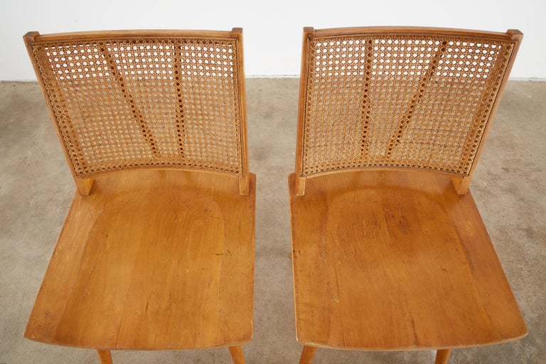 Set of Four Paul McCobb Maple Dining Chairs 1