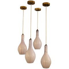 Set of Four Pendant Lights