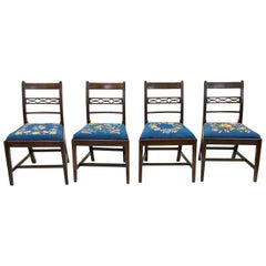 Set of Four Period English Hepplewhite Chairs