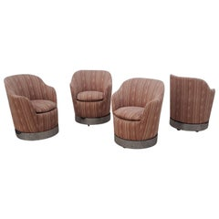 Set of Four Philip Enfield Swivel Chairs