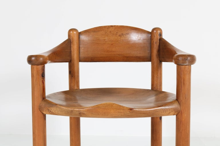 Set of Four Pine Mid-Century Modern Armchairs by Rainer Daumiller, 1970s For Sale 5