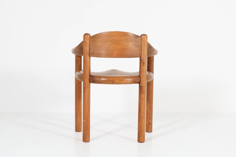 Set of Four Pine Mid-Century Modern Armchairs by Rainer Daumiller, 1970s For Sale 2
