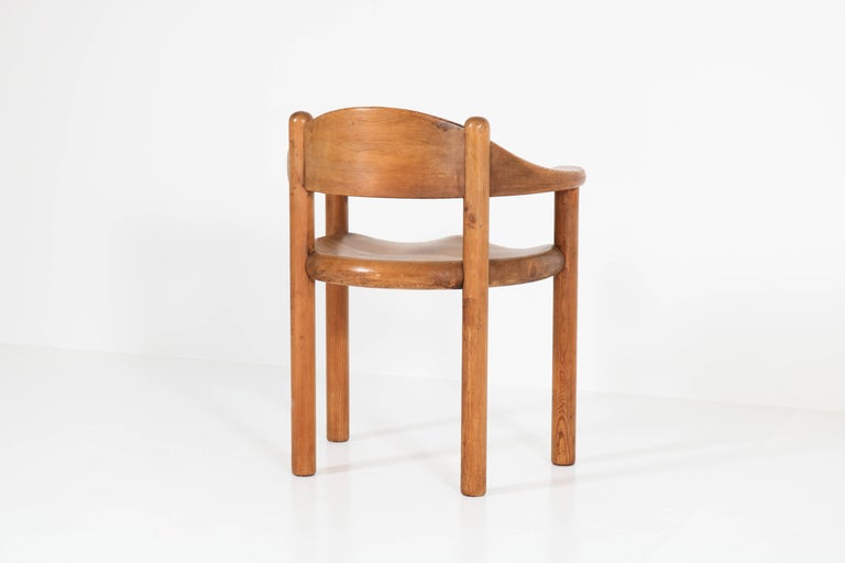 Set of Four Pine Mid-Century Modern Armchairs by Rainer Daumiller, 1970s For Sale 3