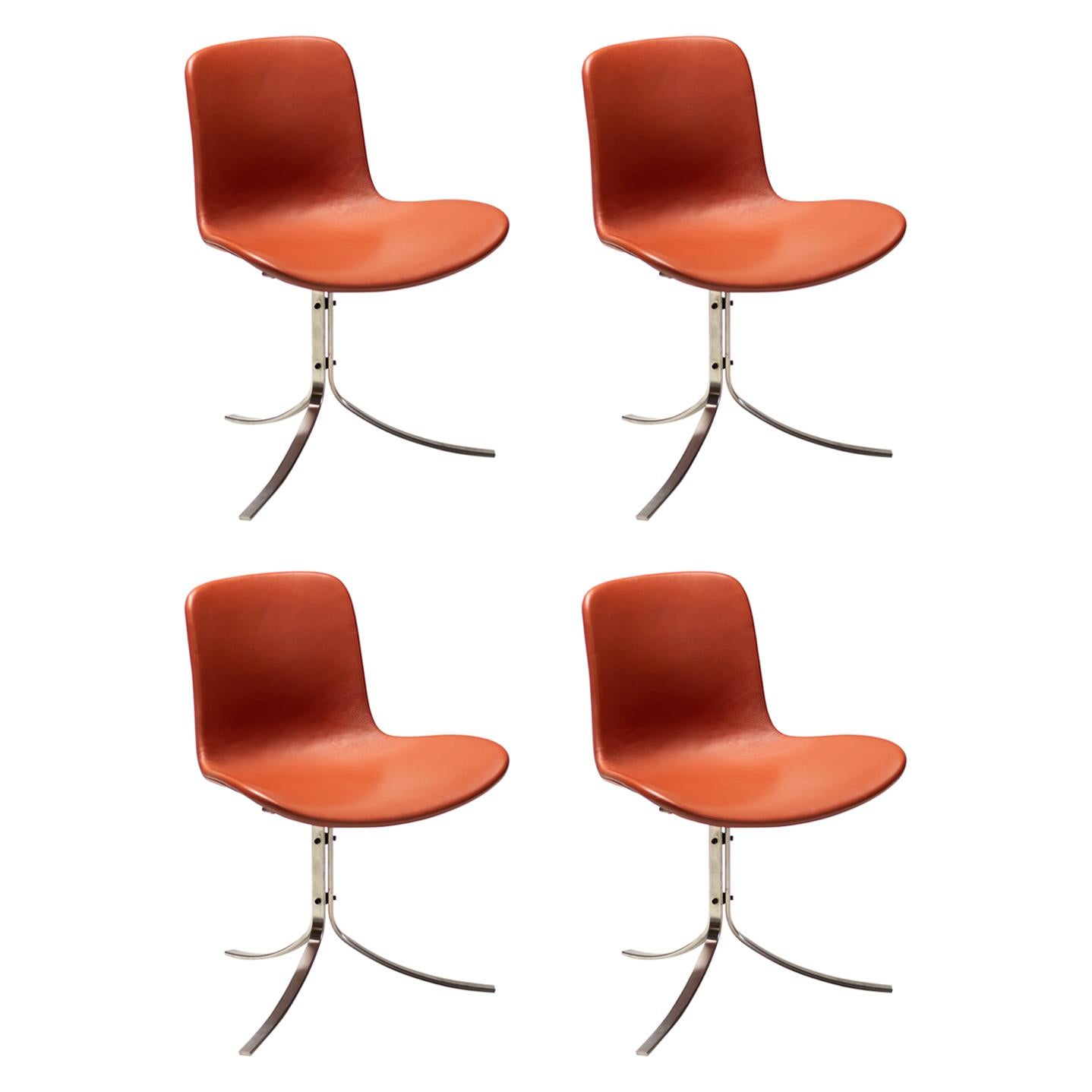 Set of Four PK9 Chairs by Poul Kjaerholm for Fritz Hansen