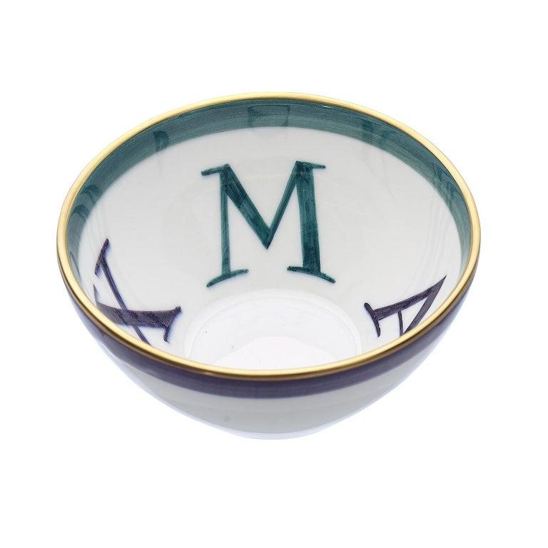 German Country Set of Four Porcelain Bowls Christmas Decor Sofina Boutique Kitzbuehel For Sale