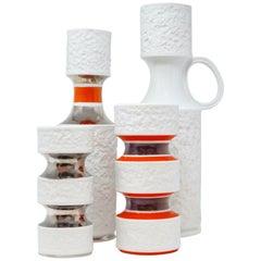 Set of Four Porcelain Vases by KPM 'Königliche Porzellan-Manufaktur', circa 1960