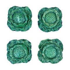 Set of Four Portuguese Cabbage Bowls