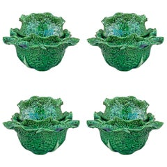 Set of Four Portuguese Cabbage Bowls
