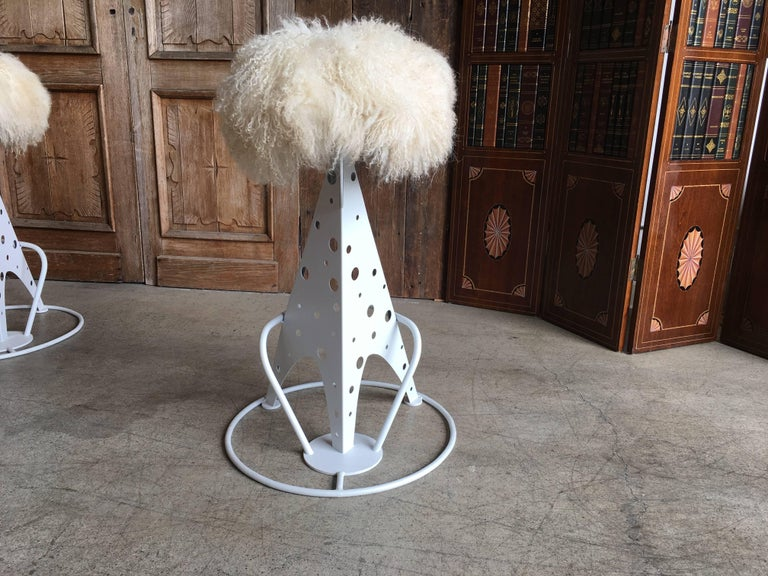 Set of Four Post Modern Bar Stools For Sale 6