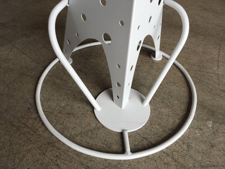 Set of Four Post Modern Bar Stools For Sale 8
