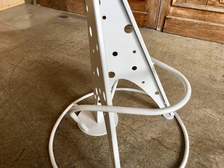 Set of Four Post Modern Bar Stools For Sale 3