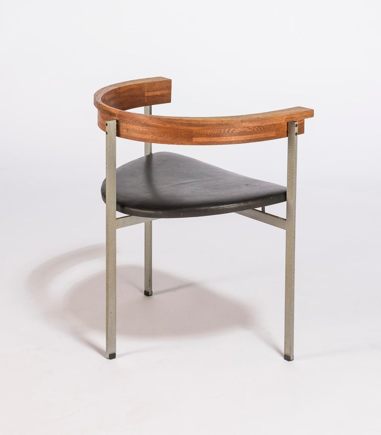 Mid-Century Modern Set of Four Poul Kjærholm for E. Kold Christiansen PK11 Dining Chairs For Sale