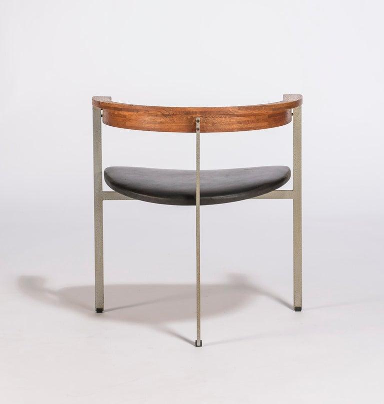 20th Century Set of Four Poul Kjærholm for E. Kold Christiansen PK11 Dining Chairs For Sale
