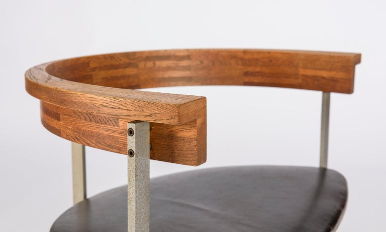 Steel Set of Four Poul Kjærholm for E. Kold Christiansen PK11 Dining Chairs For Sale