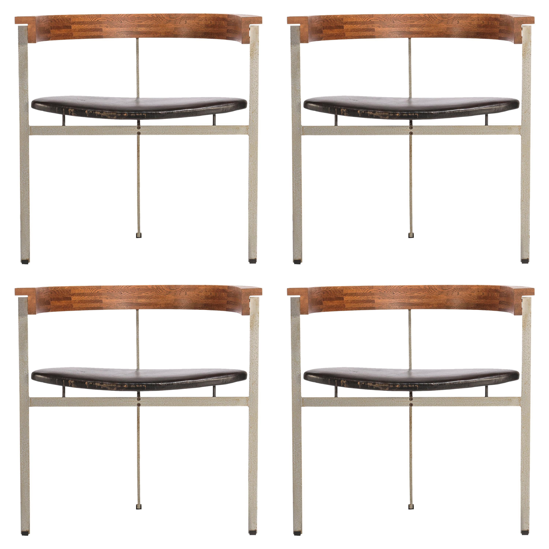 Set of Four Poul Kjærholm for E. Kold Christiansen PK11 Dining Chairs