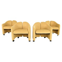 Set of Four PS 142 Eugenio Gerli Mid-Century Modern Chair for Tecno