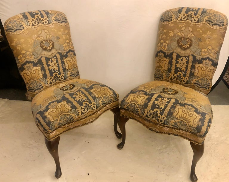 20th Century Set of Four Queen Anne High Back Dining Chairs