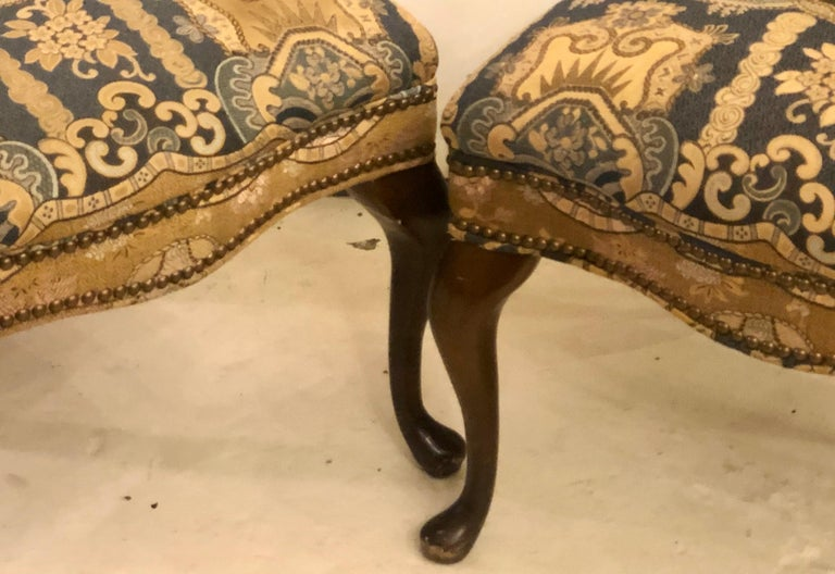 Set of Four Queen Anne High Back Dining Chairs 2