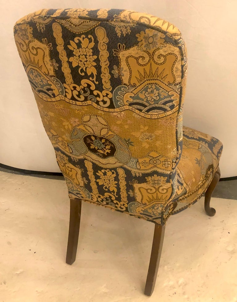 Set of Four Queen Anne High Back Dining Chairs 3