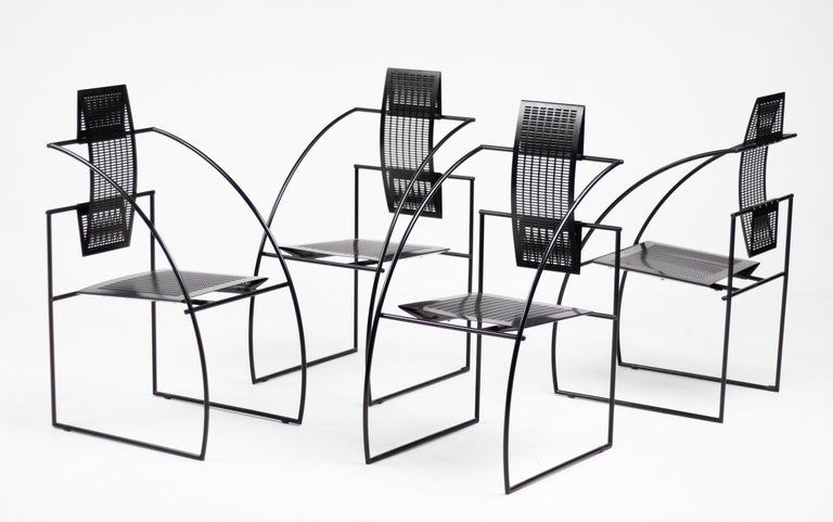Set of Four Quinta Chairs by Mario Botta For Sale 2