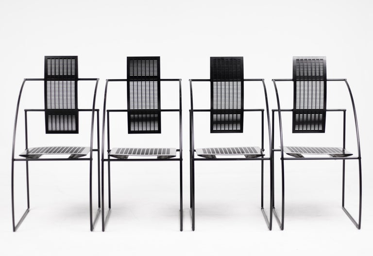 Italian Set of Four Quinta Chairs by Mario Botta For Sale