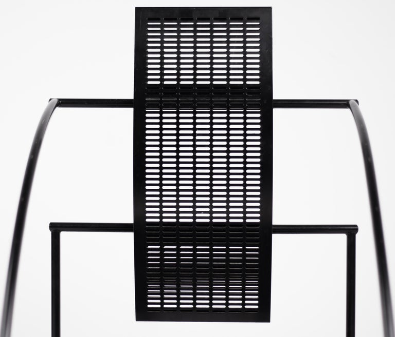 Enameled Set of Four Quinta Chairs by Mario Botta For Sale