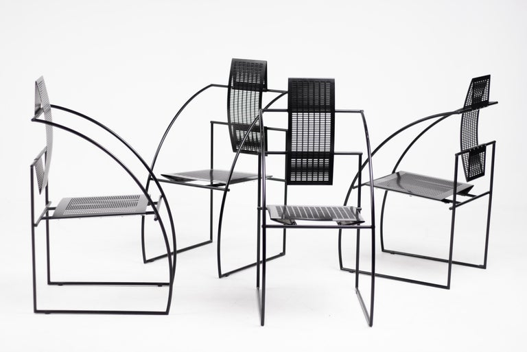 Set of Four Quinta Chairs by Mario Botta In Good Condition For Sale In Dronten, NL