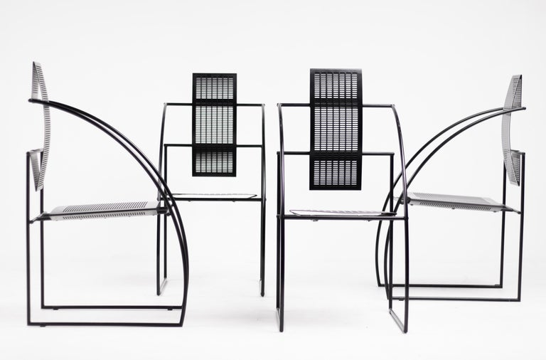Late 20th Century Set of Four Quinta Chairs by Mario Botta For Sale