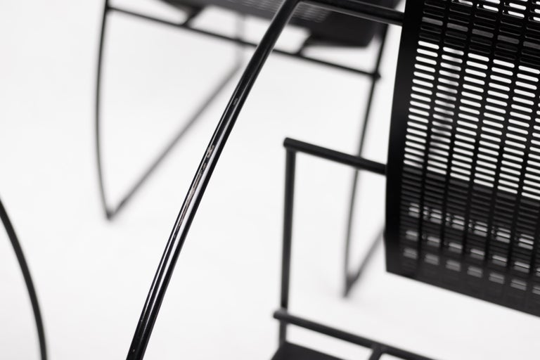 Steel Set of Four Quinta Chairs by Mario Botta For Sale