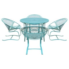 Set of Four 'Radar' Salterini Bouncer Chairs and Table Set