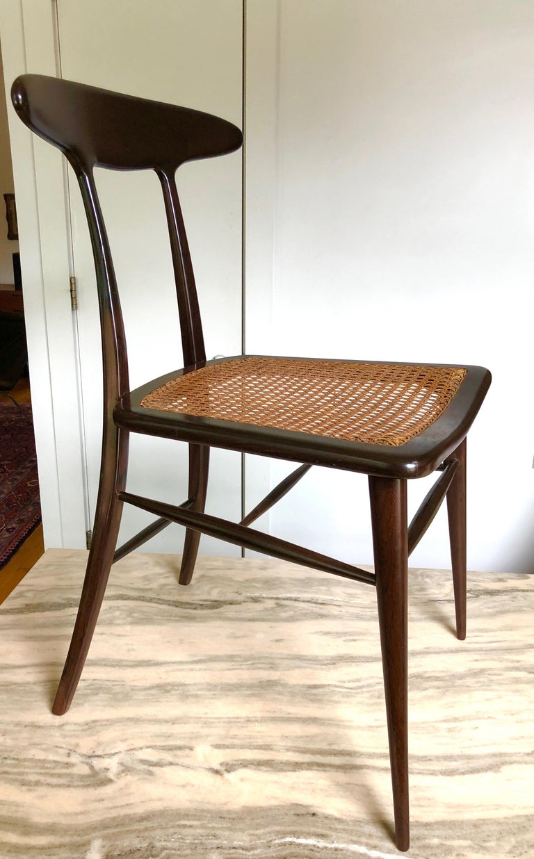 Set of Four Rare Dining Chairs by Martin Eisler and Carlo Hauner for Forma In Good Condition For Sale In Hudson, NY