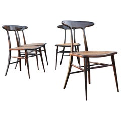 Set of Four Rare Dining Chairs by Martin Eisler and Carlo Hauner for Forma