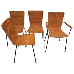 Rattan Dining Room Chairs - 82 For Sale at 1stdibs