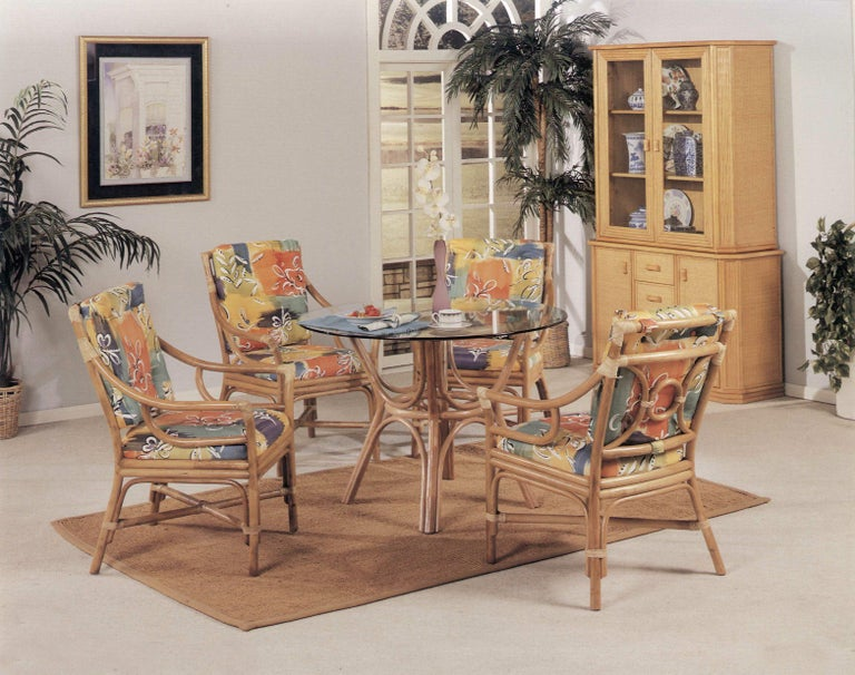 Freshly made rattan dining set featuring 4
