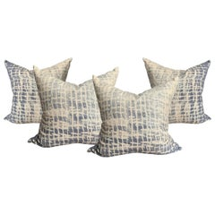 Set of Four Raw Silk Pillows