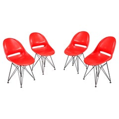 Set of Four Red Seats