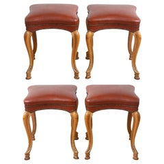 Set of Four Regence Style Stackable Stools, France, 1940's